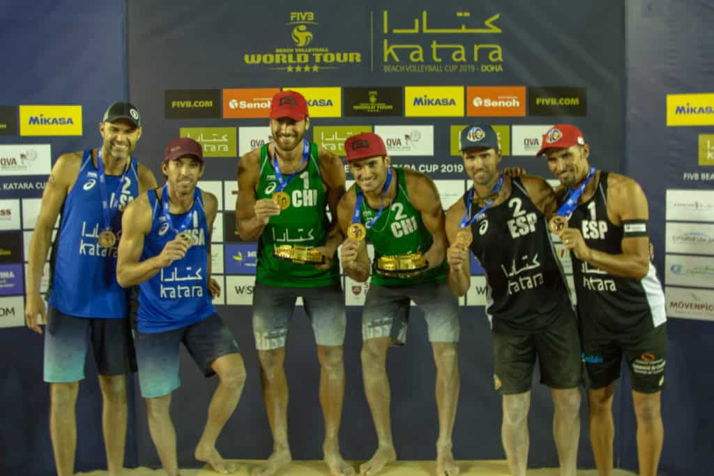 Phil Dalhausser, Nick Lucena, Marco and Esteban Grimalt, Adrian Gavira and Pablo Herrera